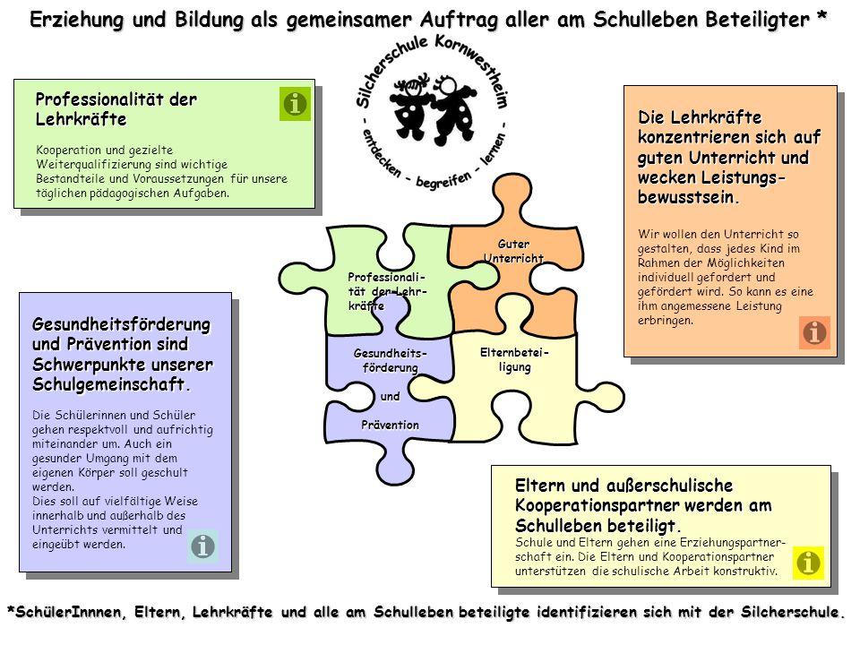 Erziehung und Bildung als gemeinsamer Auftrag aller am Schulleben Beteiligter *
