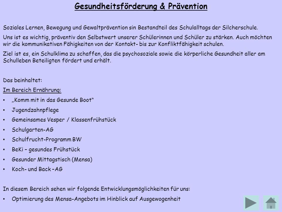 Gesundheitsförderung & Prävention