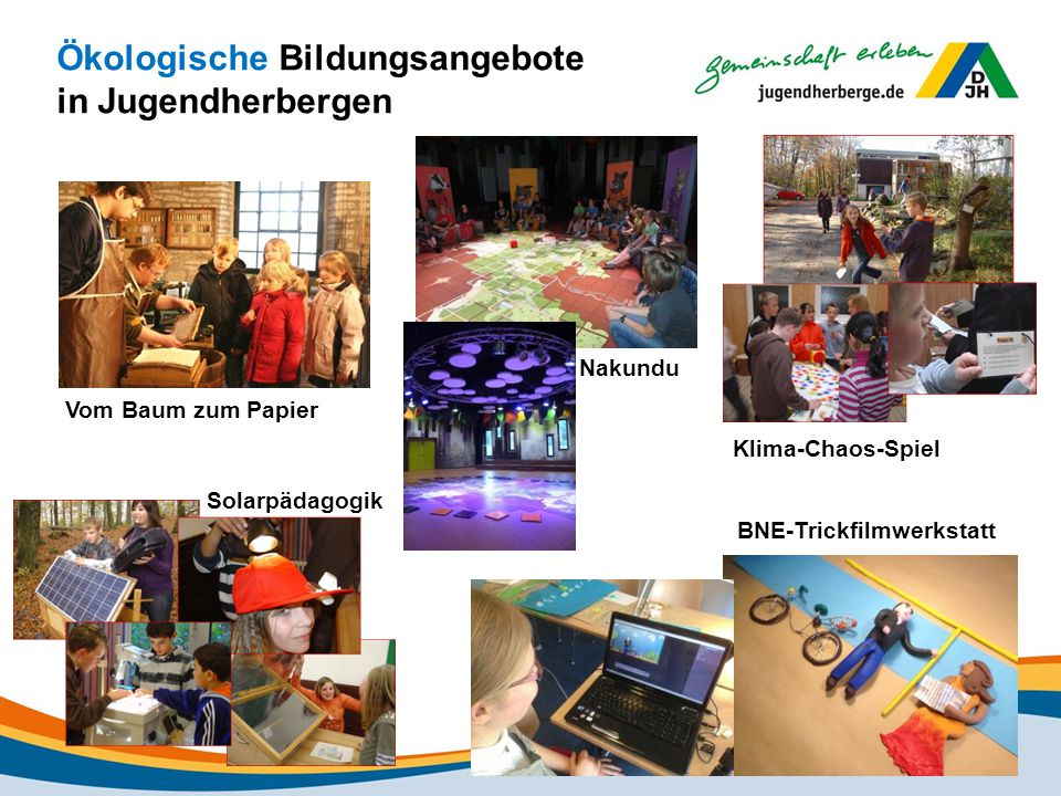 Ökologische Bildungsangebote in Jugendherbergen