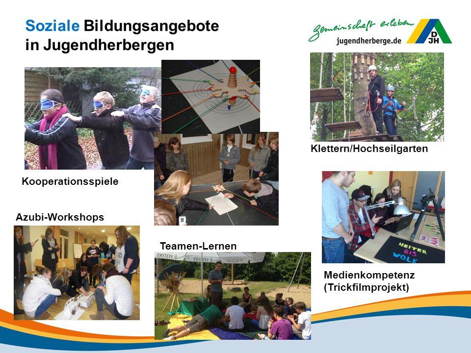 Soziale Bildungsangebote in Jugendherbergen