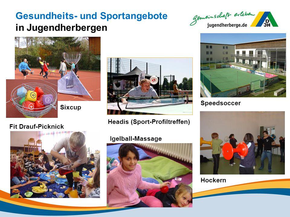Gesundheits- und Sportangebote in Jugendherbergen