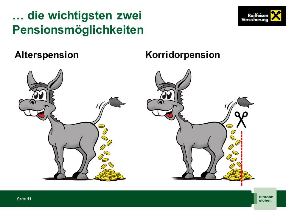… die wichtigsten zwei Pensionsmöglichkeiten