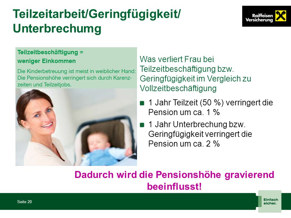 Teilzeitarbeit/Geringfügigkeit/Unterbrechumg