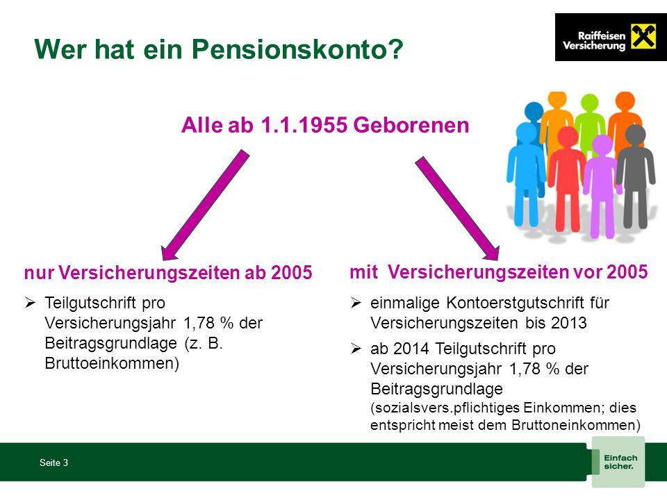 Wer hat ein Pensionskonto