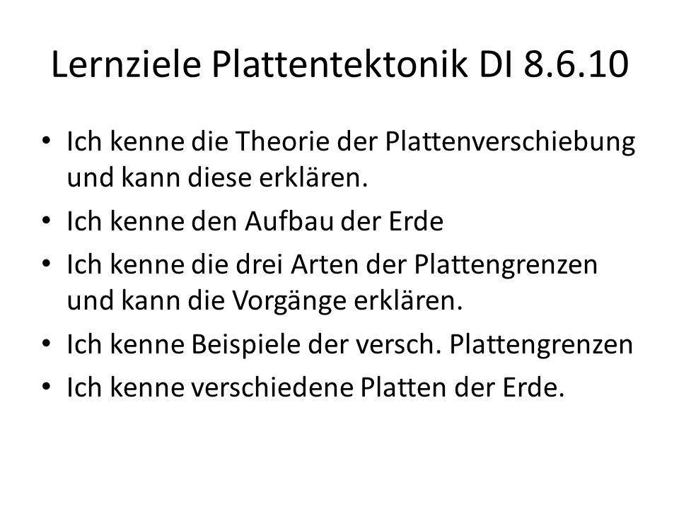 Lernziele Plattentektonik DI 8.6.10