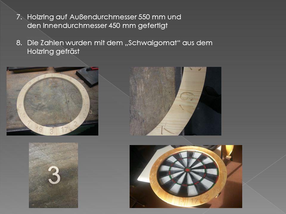 Holzring auf Außendurchmesser 550 mm und