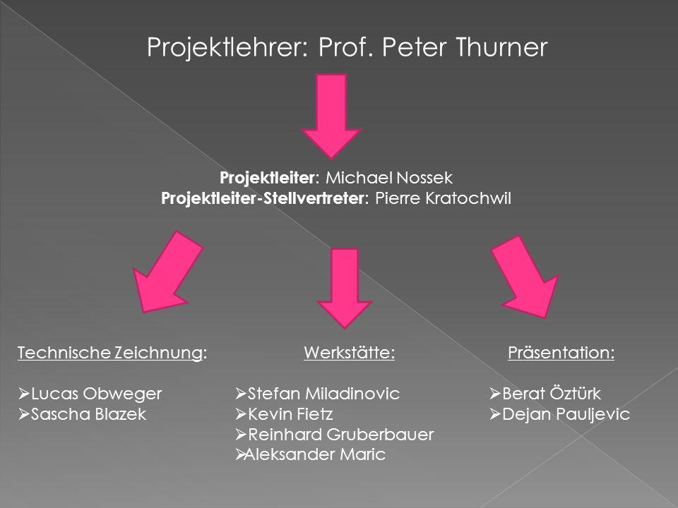 Projektlehrer: Prof. Peter Thurner
