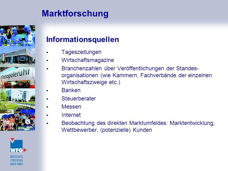 Marktforschung Informationsquellen Tageszeitungen Wirtschaftsmagazine