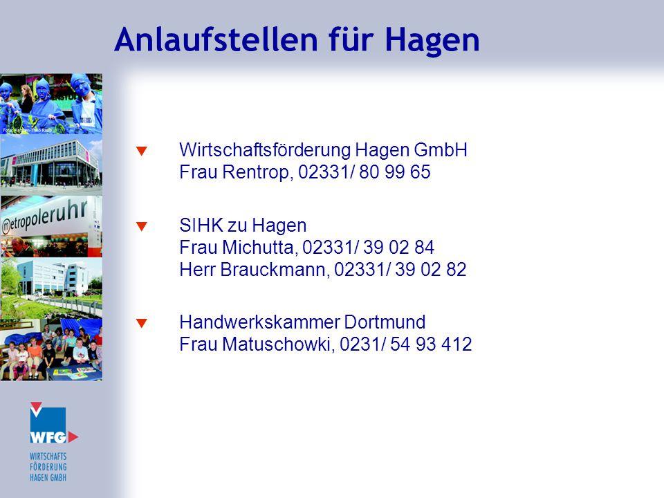 Anlaufstellen für Hagen