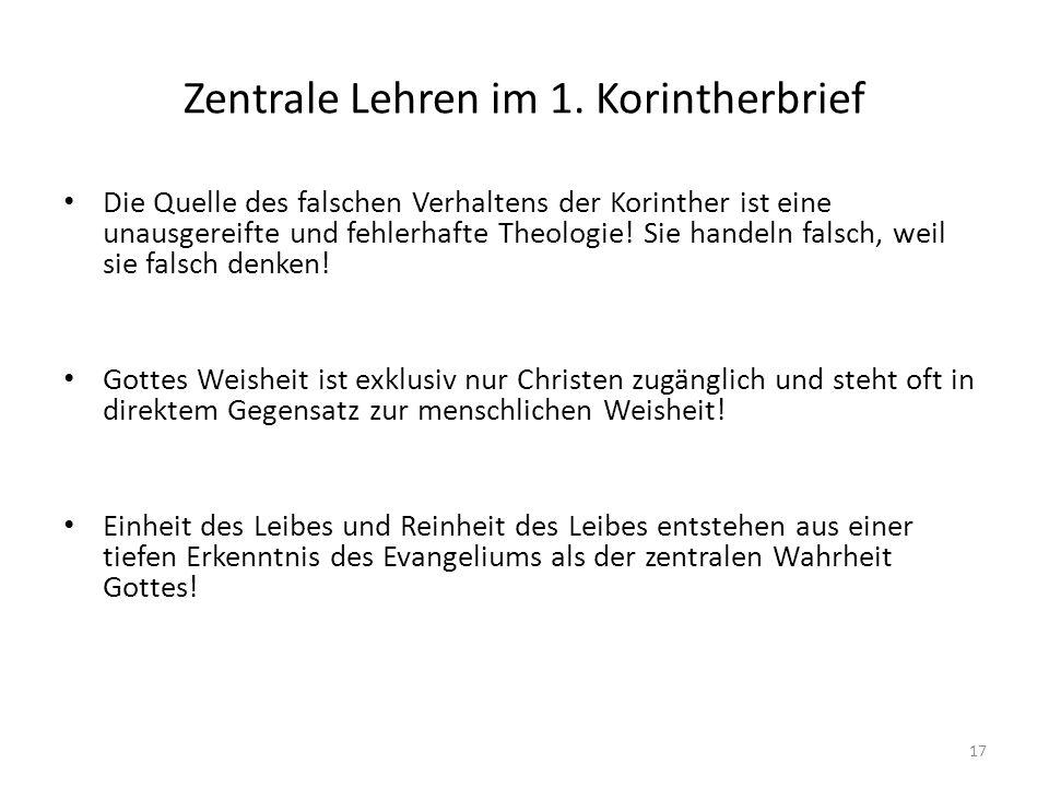 Zentrale Lehren im 1. Korintherbrief