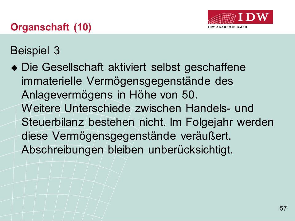 Organschaft (10) Beispiel 3.