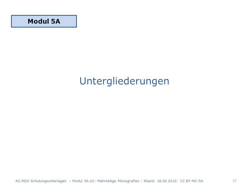 Untergliederungen Modul 5A