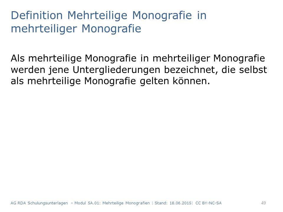 Definition Mehrteilige Monografie in mehrteiliger Monografie