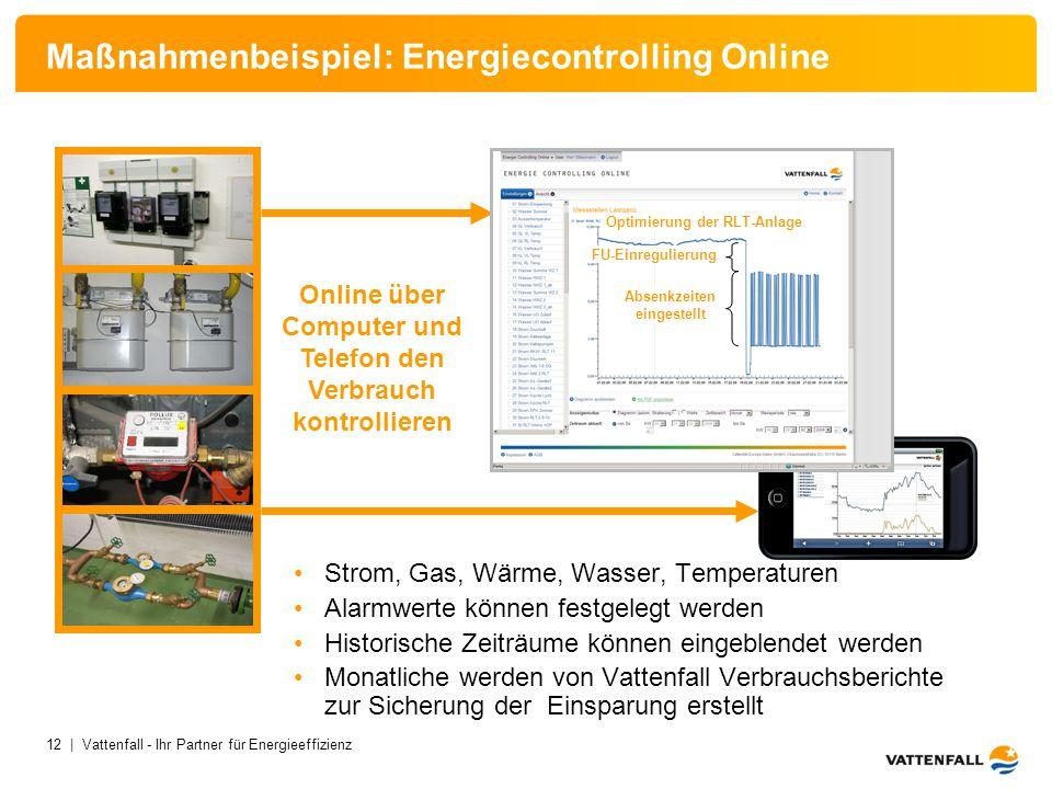 Maßnahmenbeispiel: Energiecontrolling Online