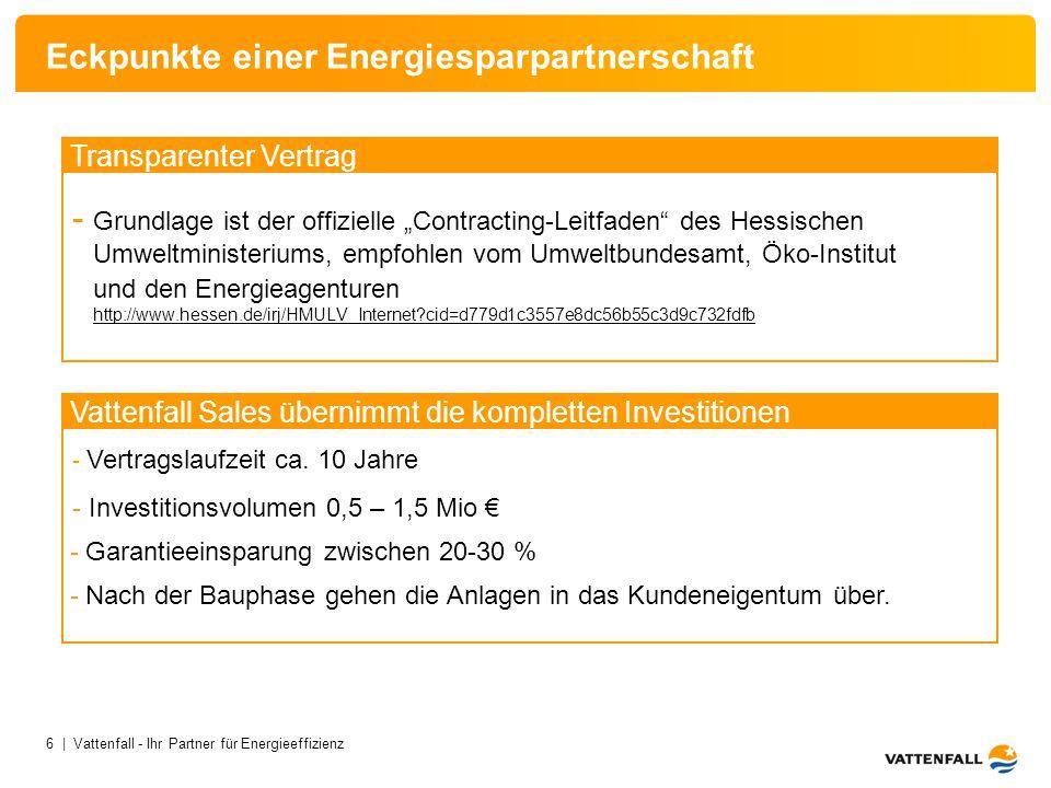 Eckpunkte einer Energiesparpartnerschaft