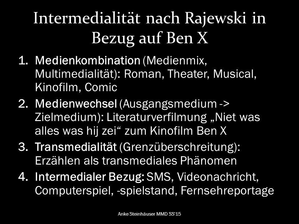 Intermedialität nach Rajewski in Bezug auf Ben X