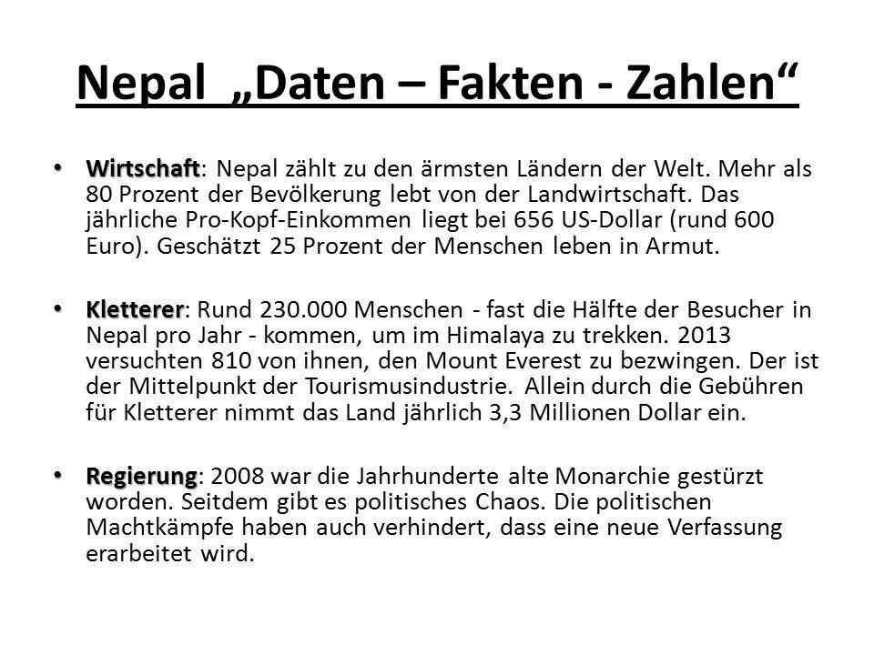 "Nepal ""Daten – Fakten - Zahlen"