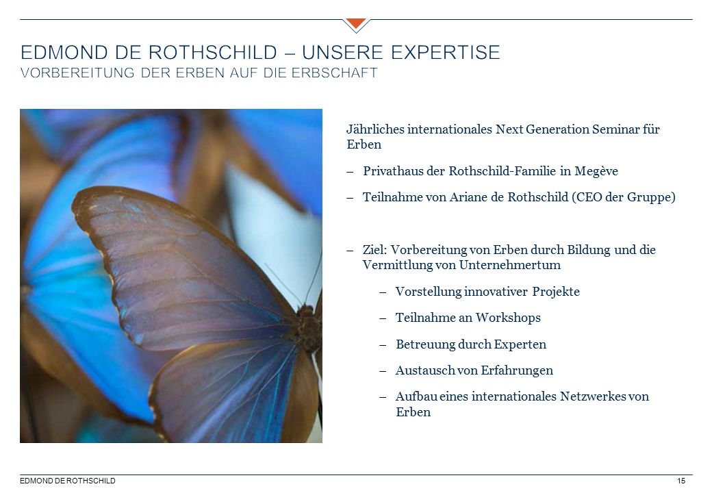 Edmond de Rothschild – unsere Expertise Vorbereitung der Erben auf die Erbschaft