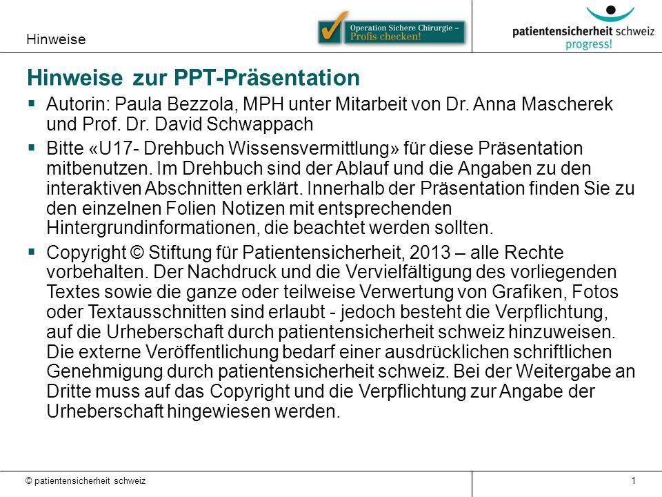 Hinweise zur PPT-Präsentation
