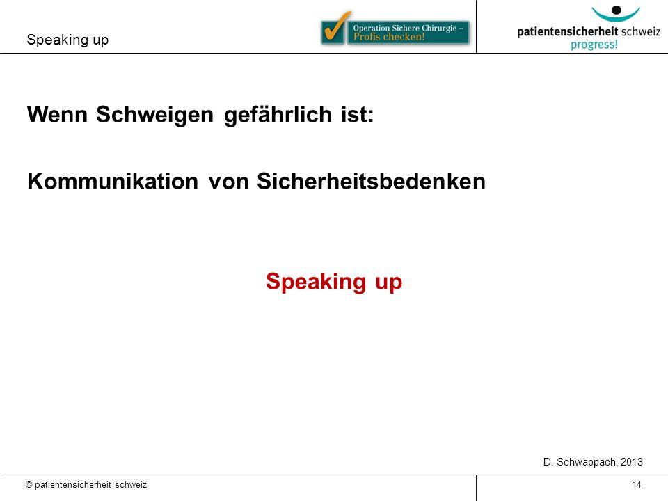 Wenn Schweigen gefährlich ist: Kommunikation von Sicherheitsbedenken