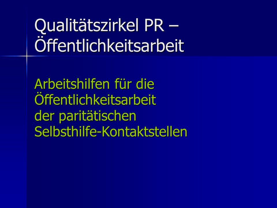 Qualitätszirkel PR – Öffentlichkeitsarbeit