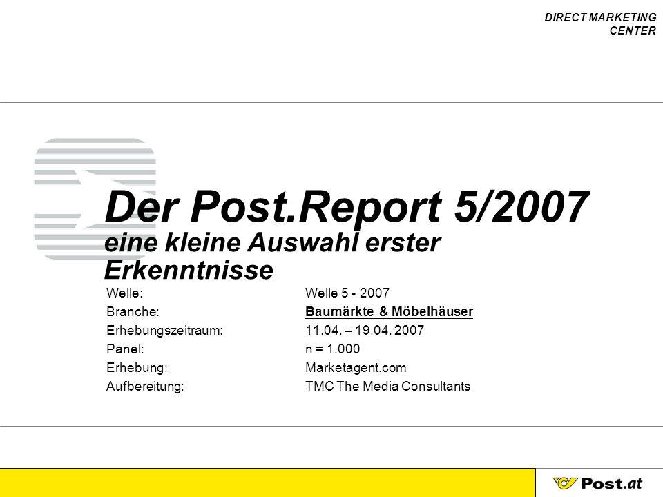 Der Post.Report 5/2007 eine kleine Auswahl erster Erkenntnisse