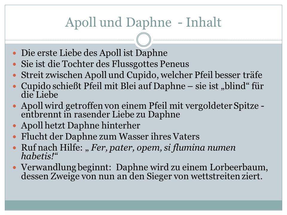 Apoll und Daphne - Inhalt