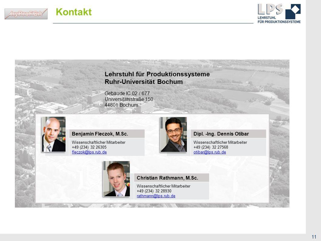 Kontakt Lehrstuhl für Produktionssysteme Ruhr-Universität Bochum