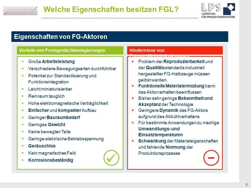  Welche Eigenschaften besitzen FGL Eigenschaften von FG-Aktoren