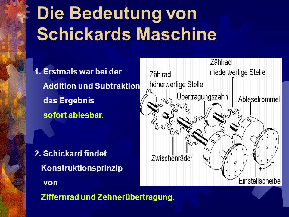 Die Bedeutung von Schickards Maschine