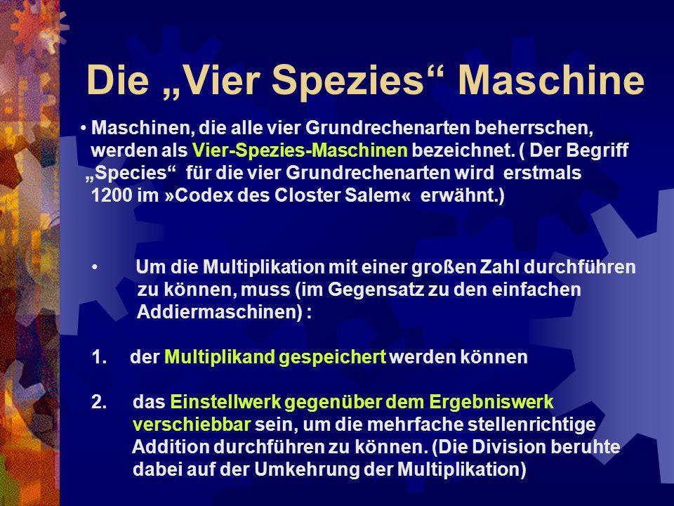 """Die """"Vier Spezies Maschine"""