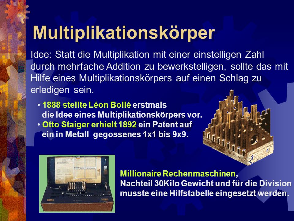 Multiplikationskörper