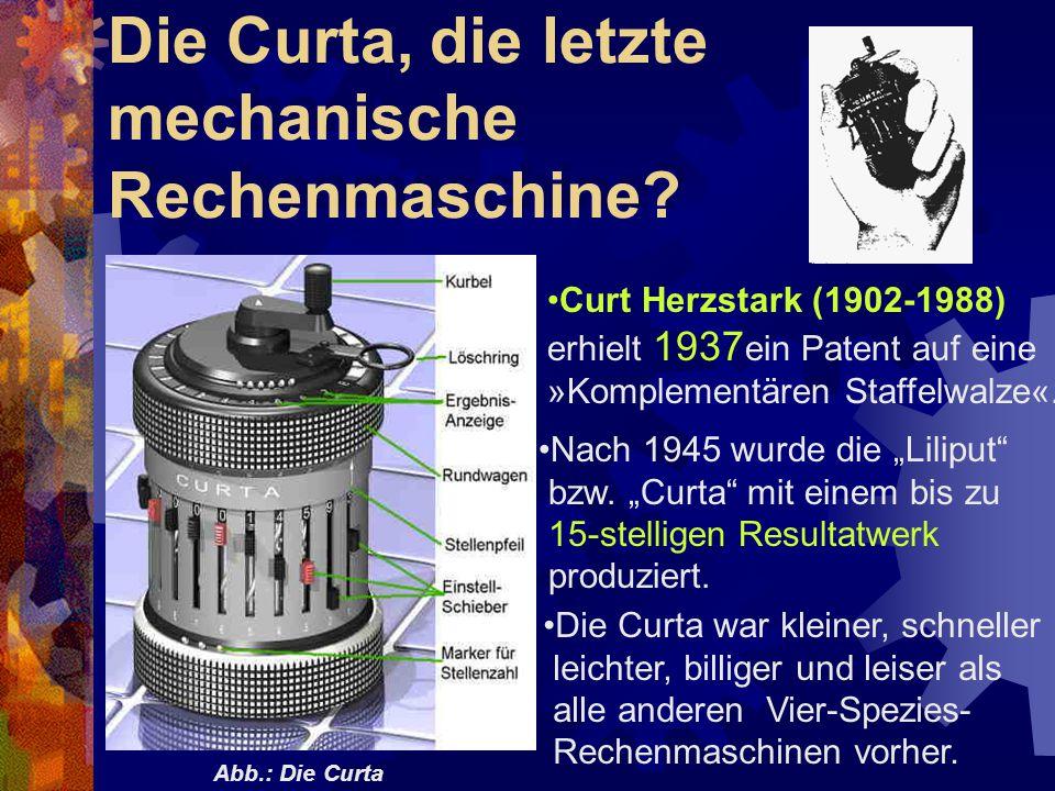 Die Curta, die letzte mechanische Rechenmaschine