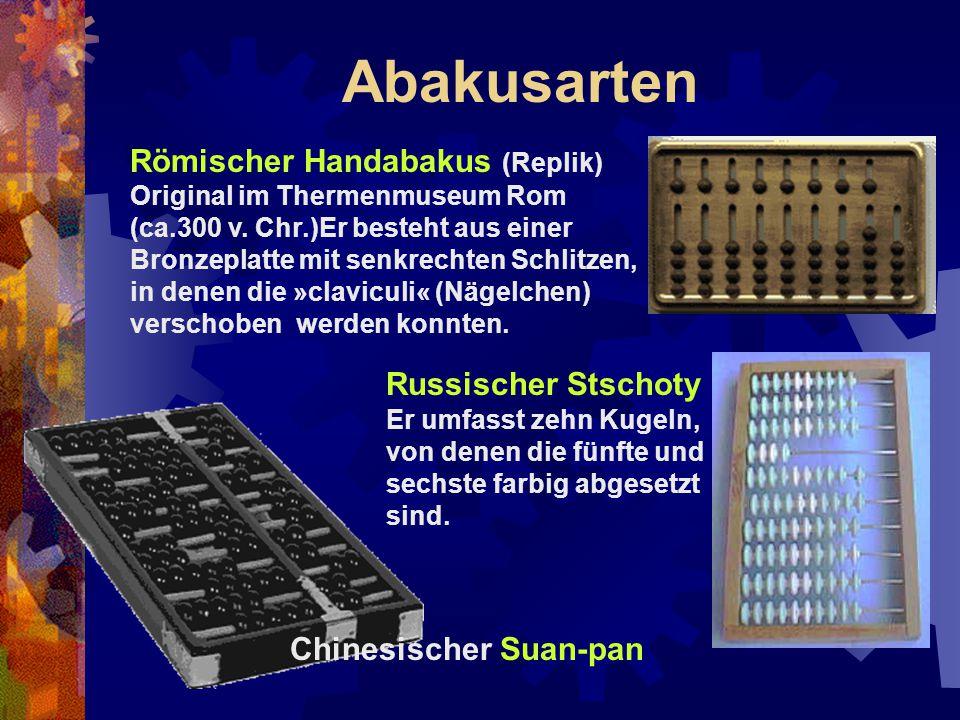 Abakusarten Römischer Handabakus (Replik) Russischer Stschoty