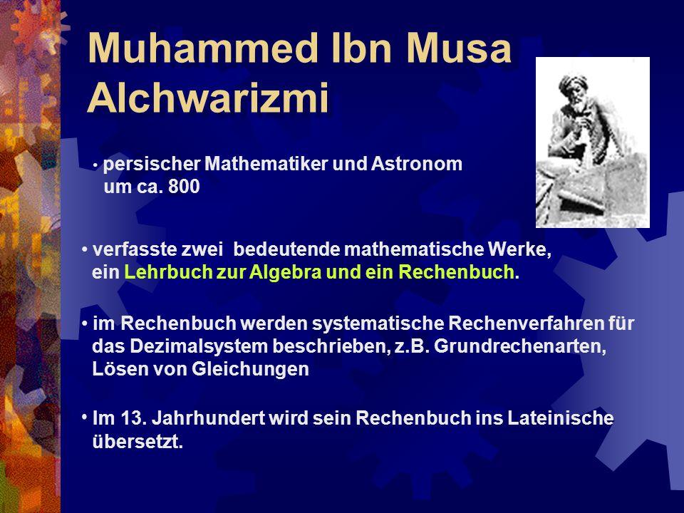 Muhammed Ibn Musa Alchwarizmi