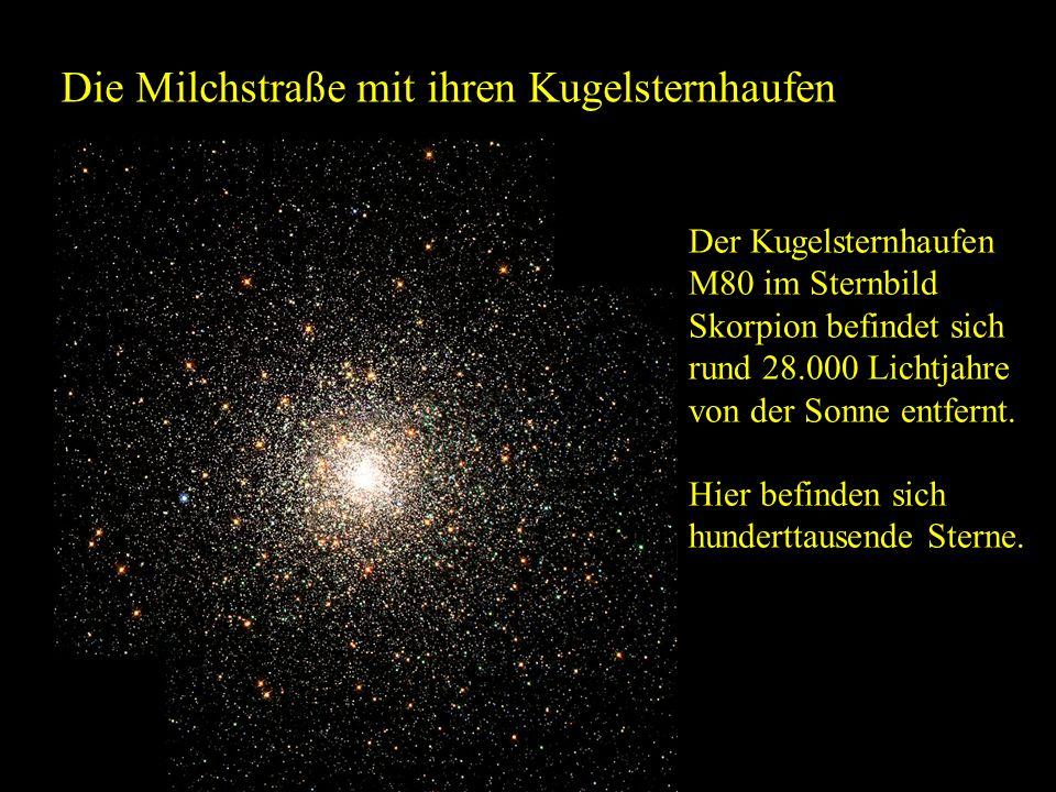 Die Milchstraße mit ihren Kugelsternhaufen
