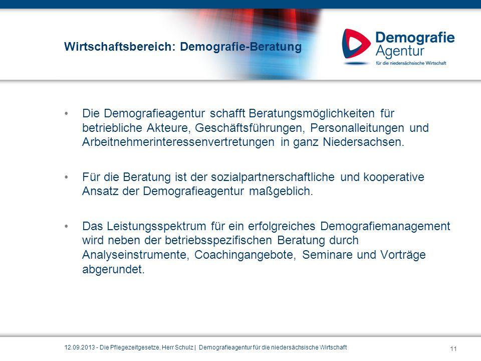 Wirtschaftsbereich: Demografie-Beratung
