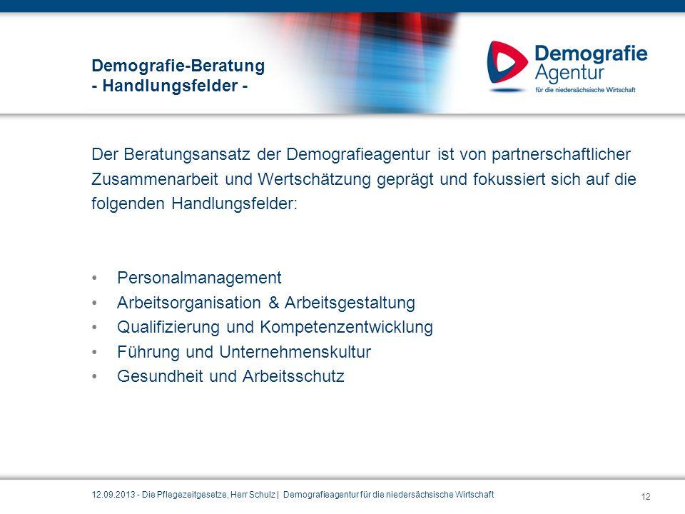 Demografie-Beratung - Handlungsfelder -