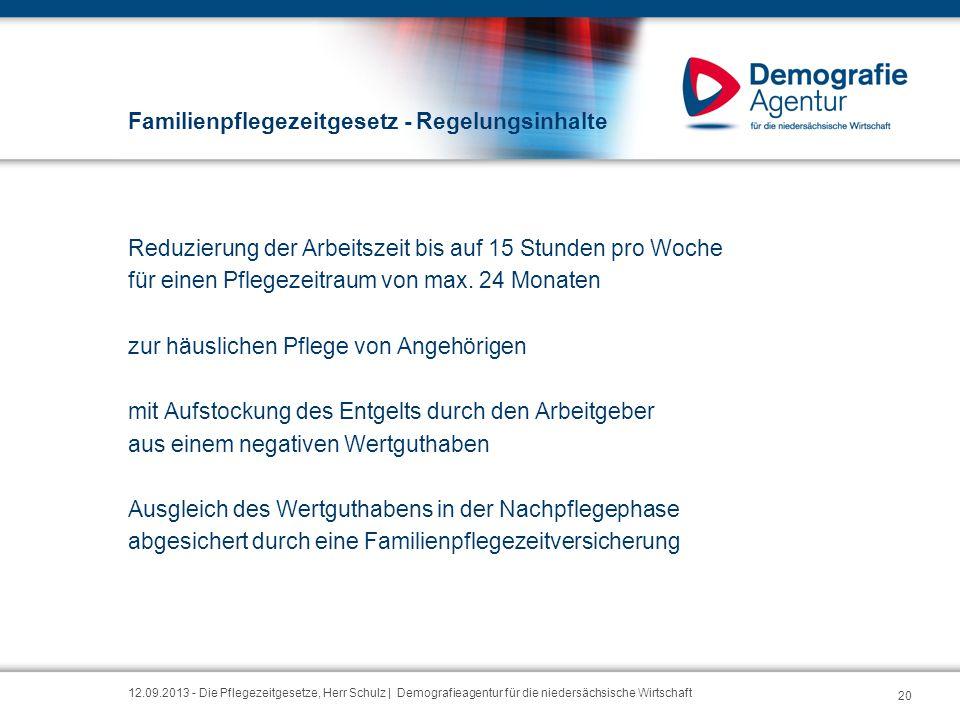 Familienpflegezeitgesetz - Regelungsinhalte