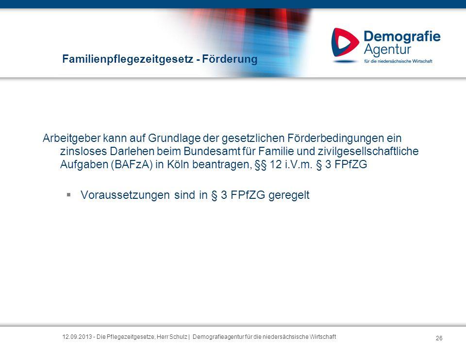 Familienpflegezeitgesetz - Förderung