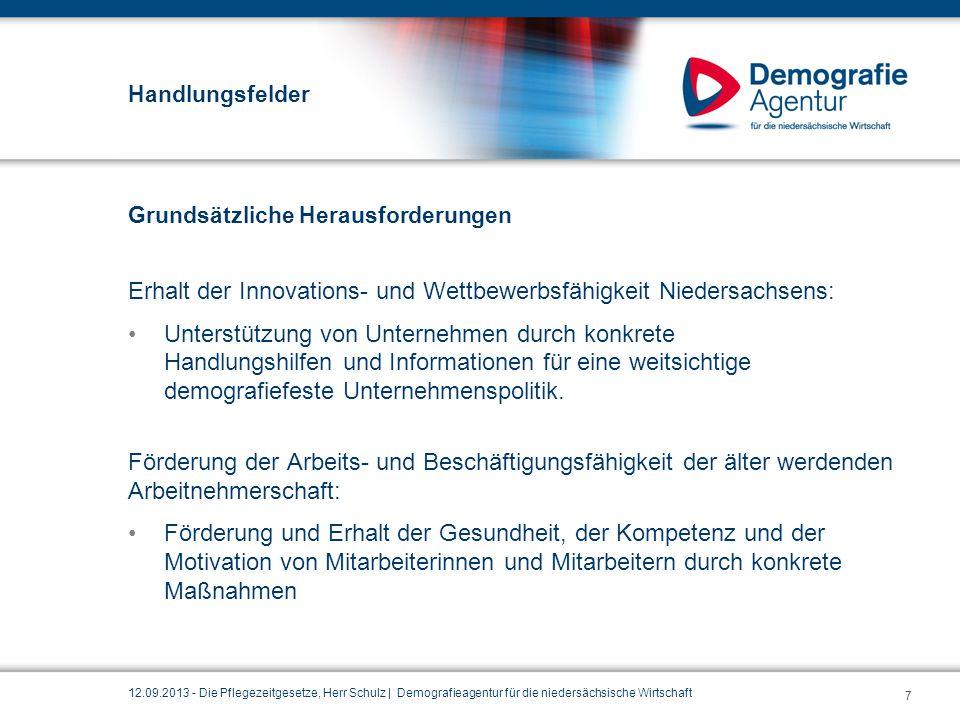 Erhalt der Innovations- und Wettbewerbsfähigkeit Niedersachsens: