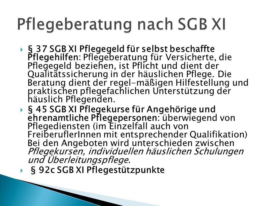Pflegeberatung nach SGB XI