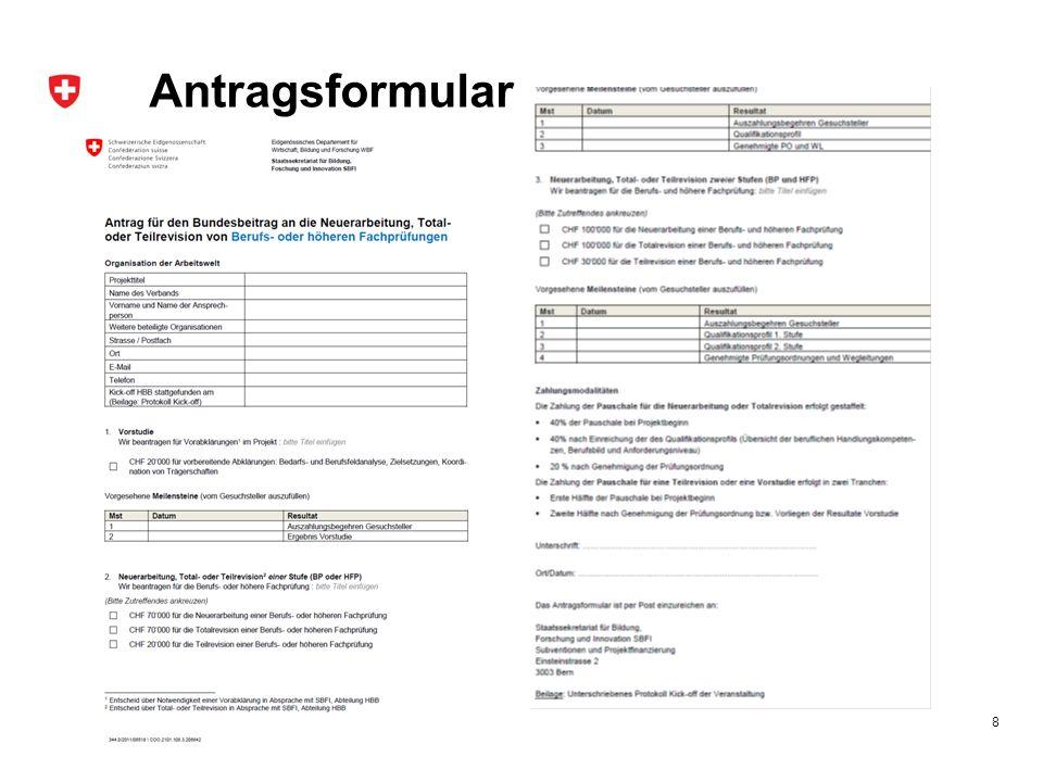 Antragsformular