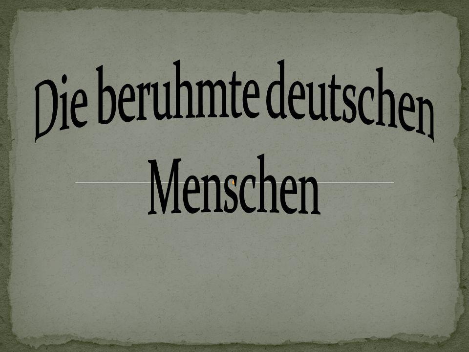 Die beruhmte deutschen Menschen