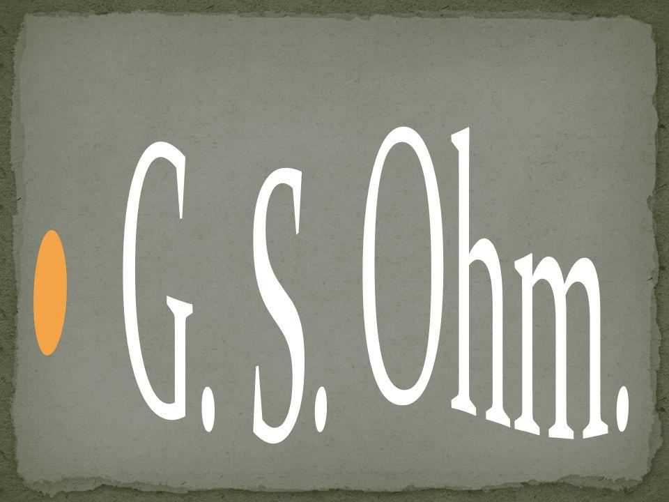 G. S. Ohm.