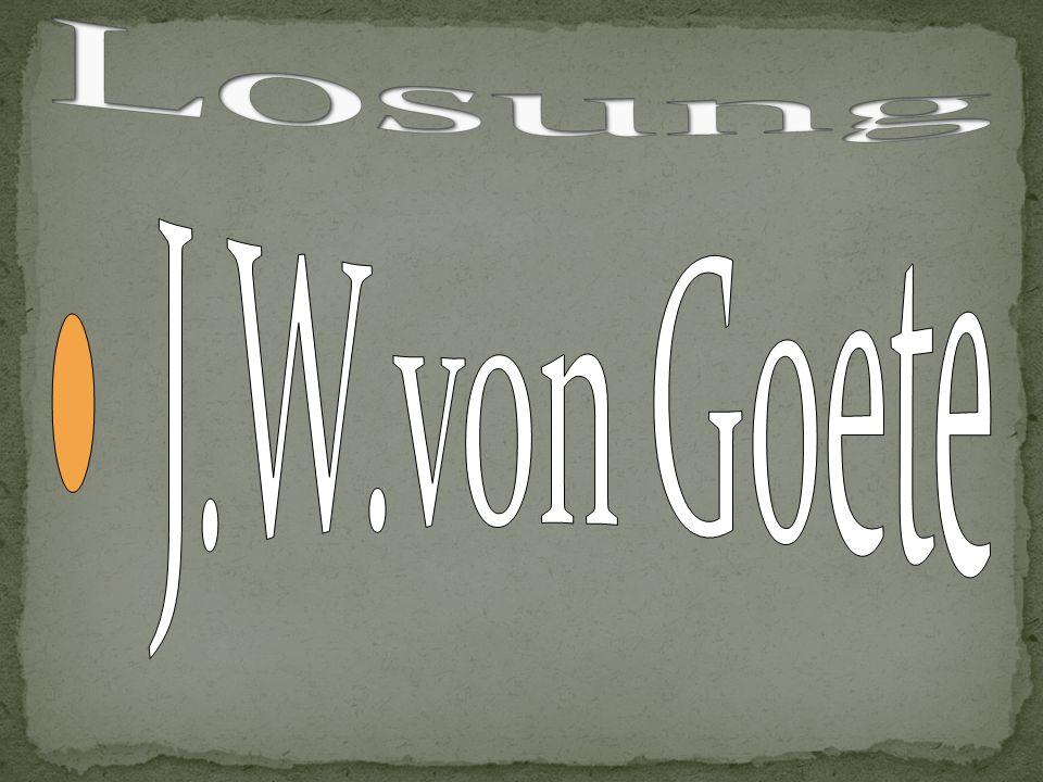 Losung J.W.von Goete