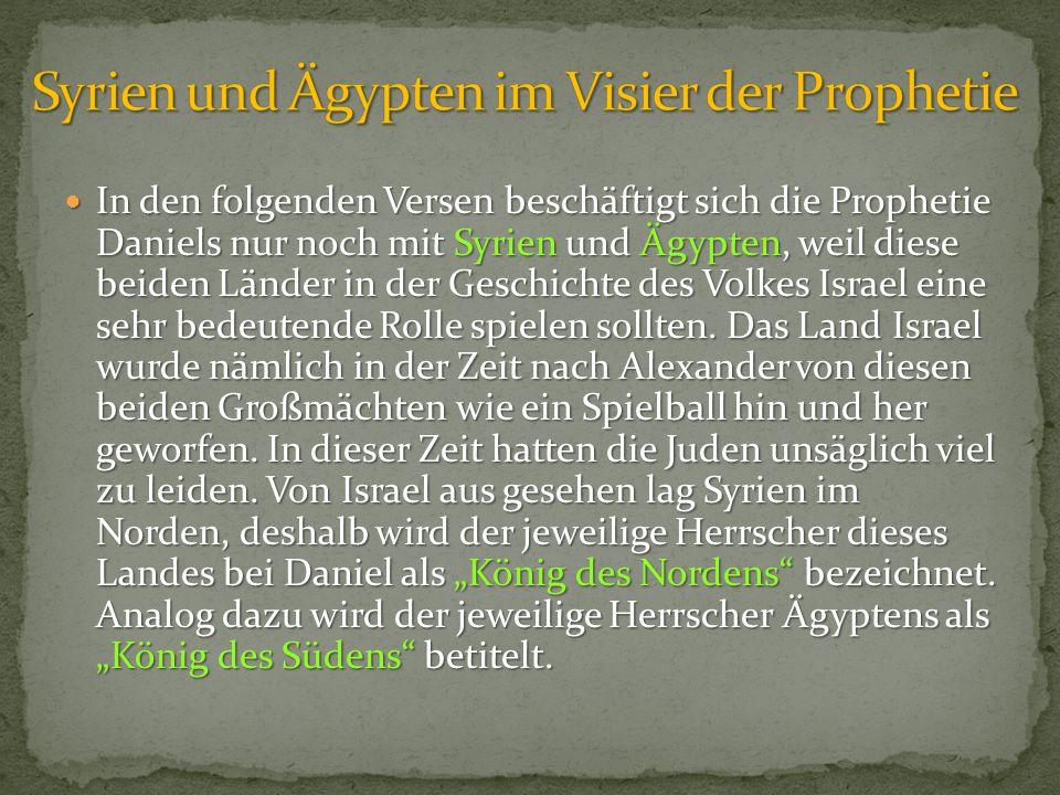 Syrien und Ägypten im Visier der Prophetie
