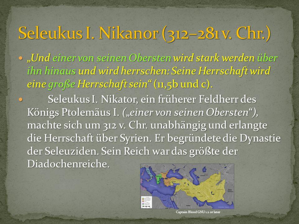 Seleukus I. Nikanor (312–281 v. Chr.)