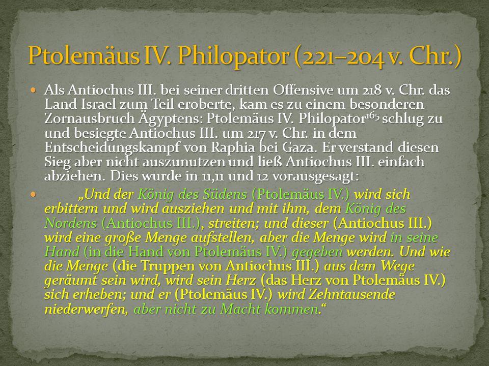 Ptolemäus IV. Philopator (221–204 v. Chr.)