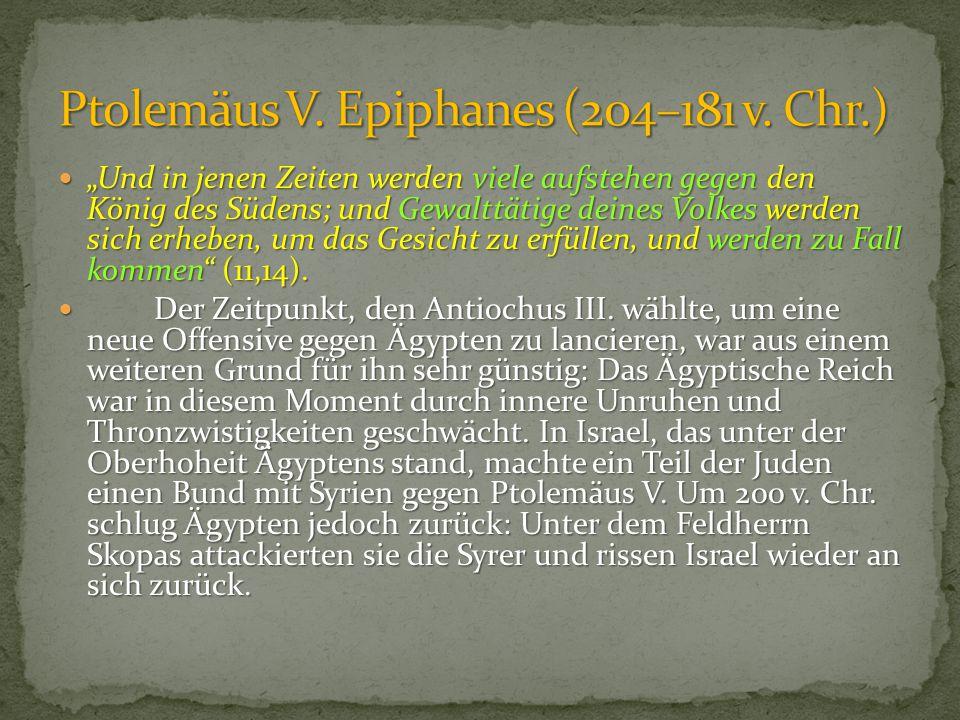Ptolemäus V. Epiphanes (204–181 v. Chr.)